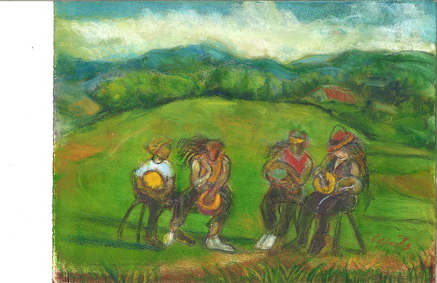 Mountain Blue Jamaica-Field Of Drums by Kippax Williams