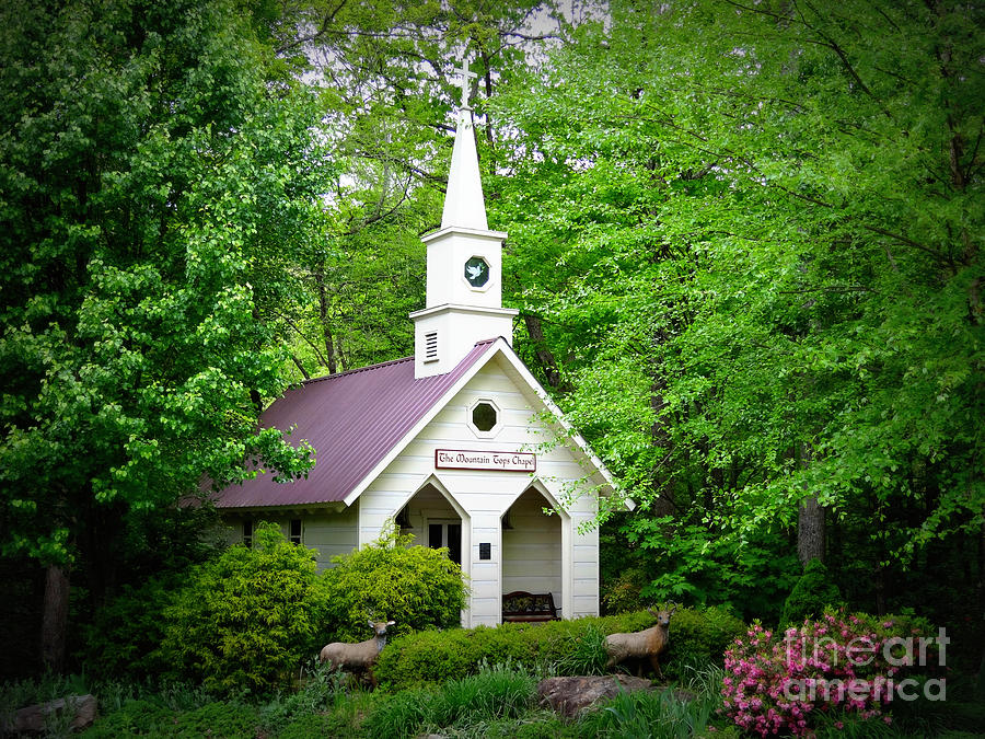 Chapel Photograph - Mountain Chapel by Crystal Joy Photography