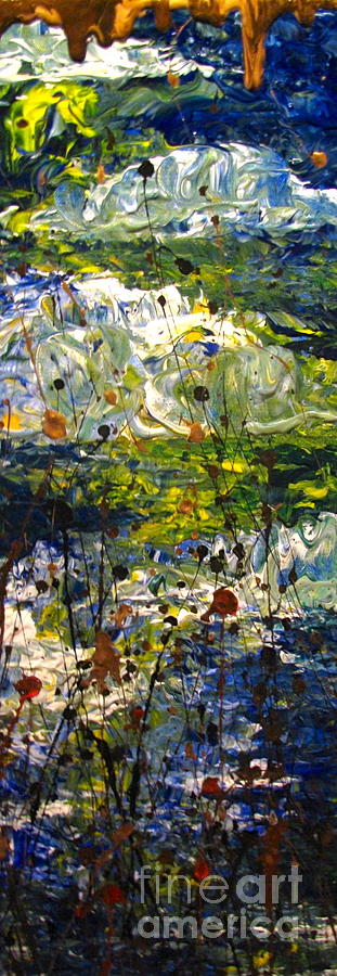 Water Painting - Mountain Creek by Jacqueline Athmann