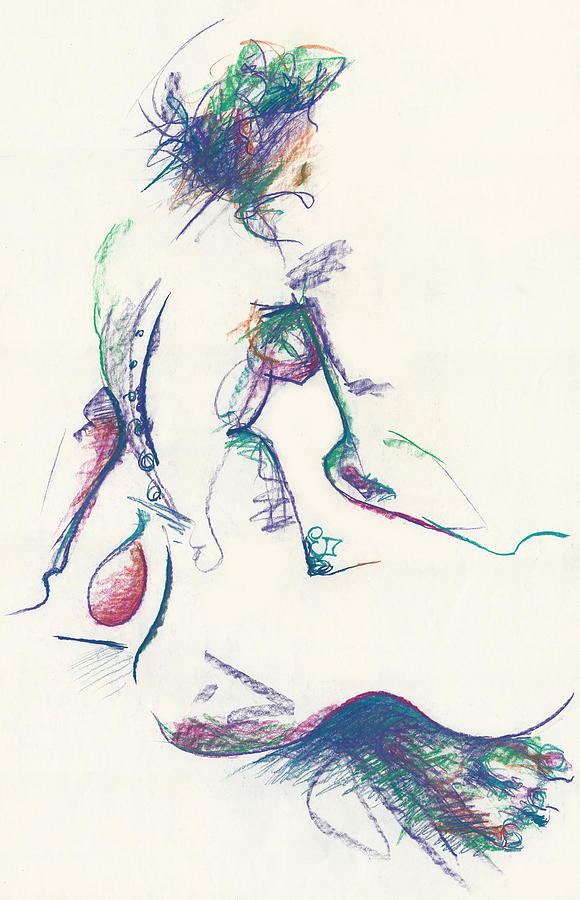 Mountain Dew Nude Drawing - Mountain Dew Nude by Melinda Dare Benfield