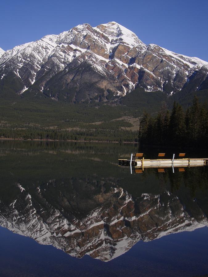 Pyramid Lake - Mountain Dock Morning - Jasper, Alberta, Canada Photograph