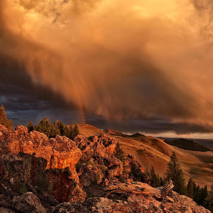 Sunset Photograph - Mountain Drama by Leland D Howard