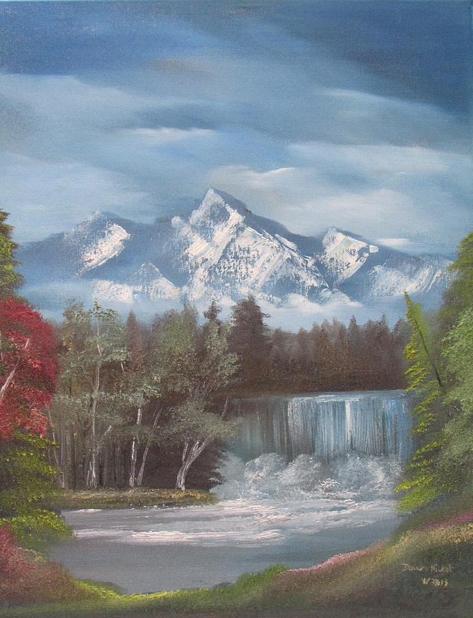 Landscape Painting - Mountain Dreams by Dawn Nickel