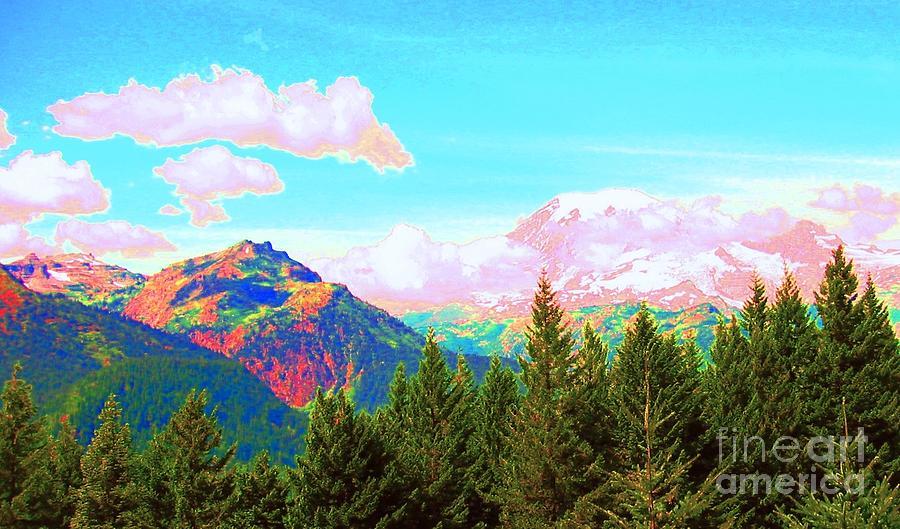 Mountain Photograph - Mountain Fantasy by Ann Johndro-Collins