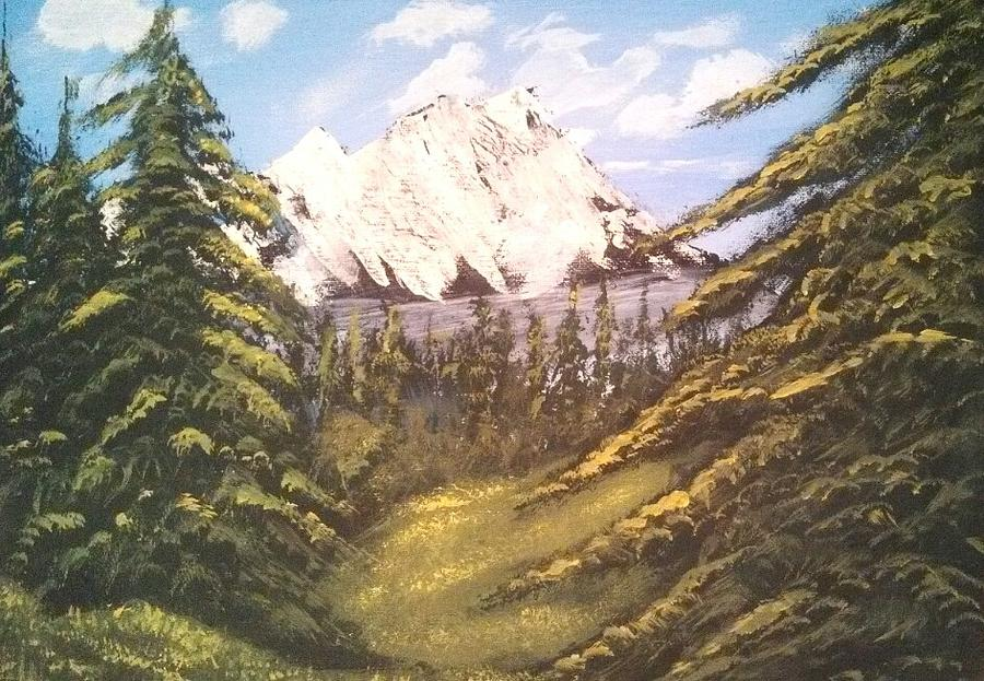 Landscapes Painting - Mountain Forest by Nicolo Filippazzo