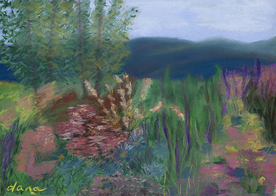 Landscape Painting - Mountain Garden by Dana Strotheide