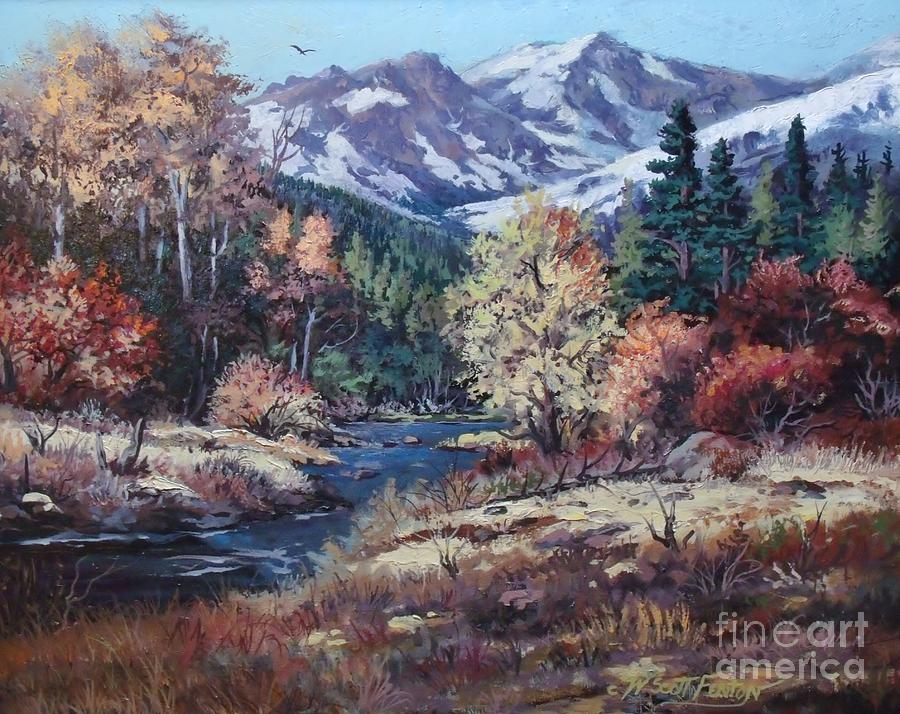 Landscape Painting - Mountain Glory by W  Scott Fenton