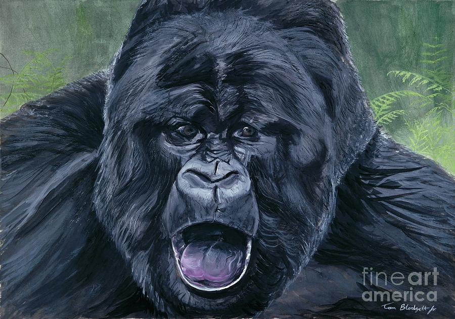 Gorilla Painting A Picture