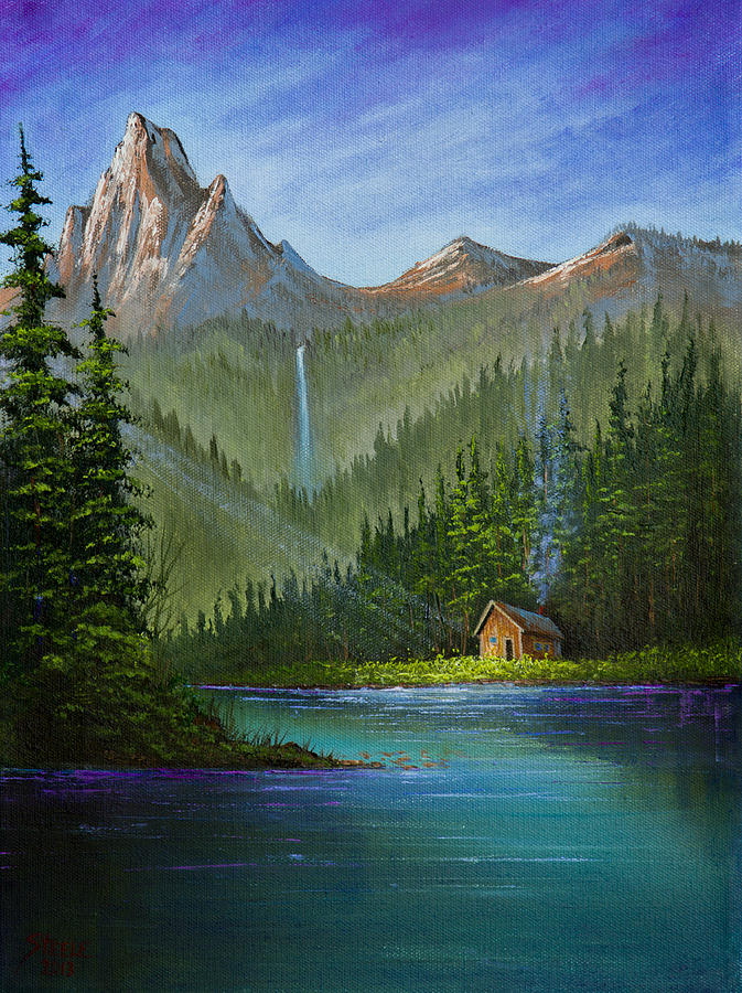 Cabin Painting - Mountain Haven by C Steele