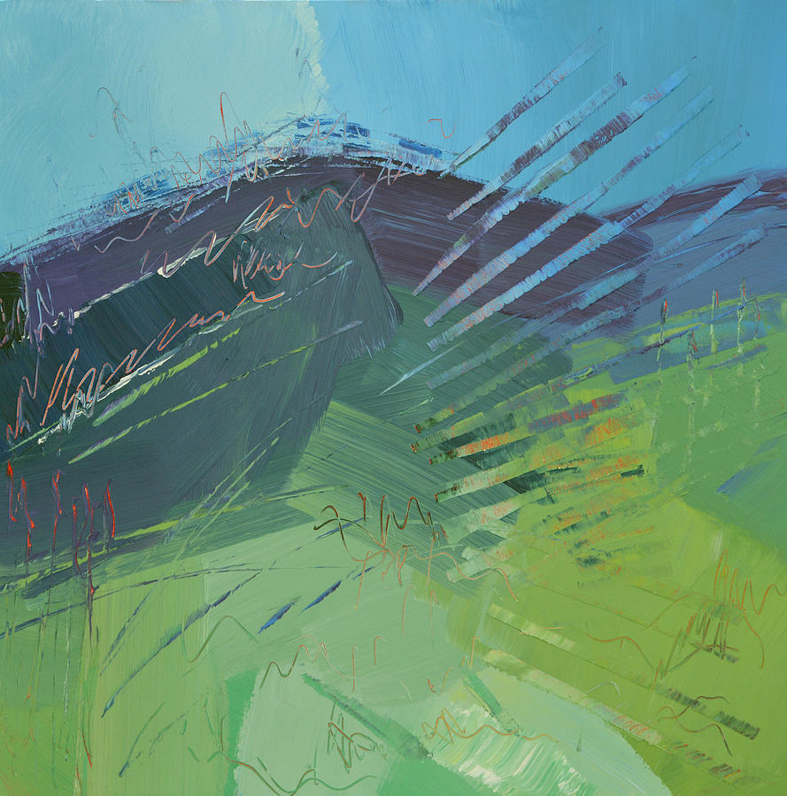 Mountain Painting - Mountain High by Linda Bailey