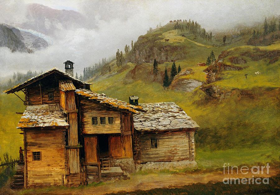 Cabin Painting - Mountain House  by Albert Bierstadt