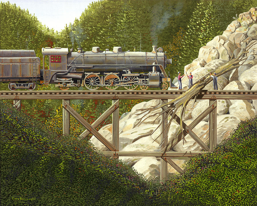 Railroad Painting - Mountain Impasse by Gary Giacomelli