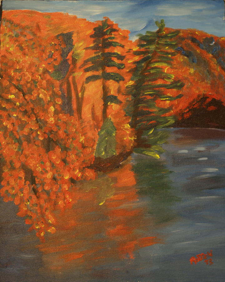 Landscape Painting - Mountain Lake by David  Rodden