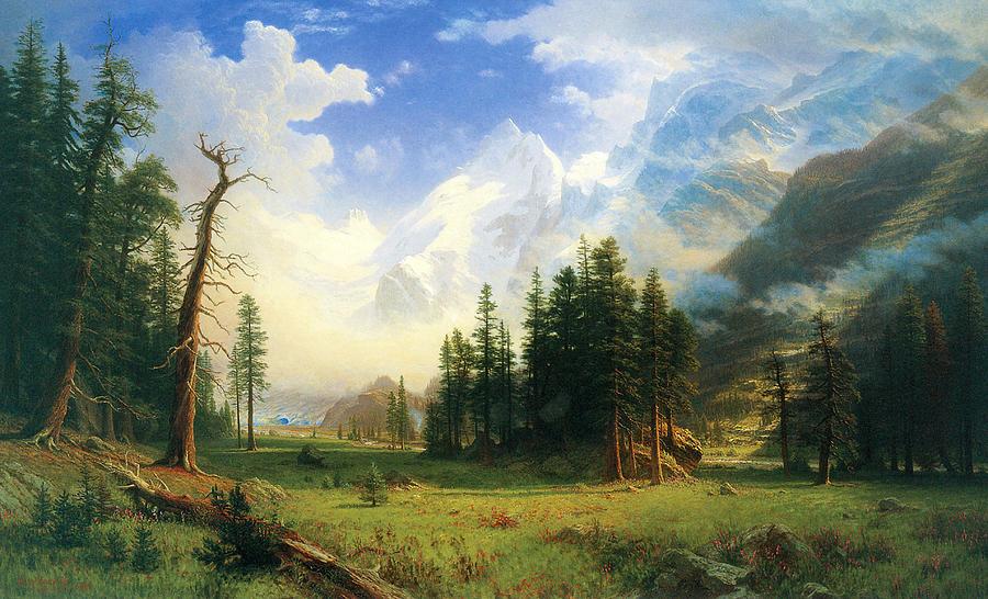 Mountain Landscape Painting By Albert Bierstadt
