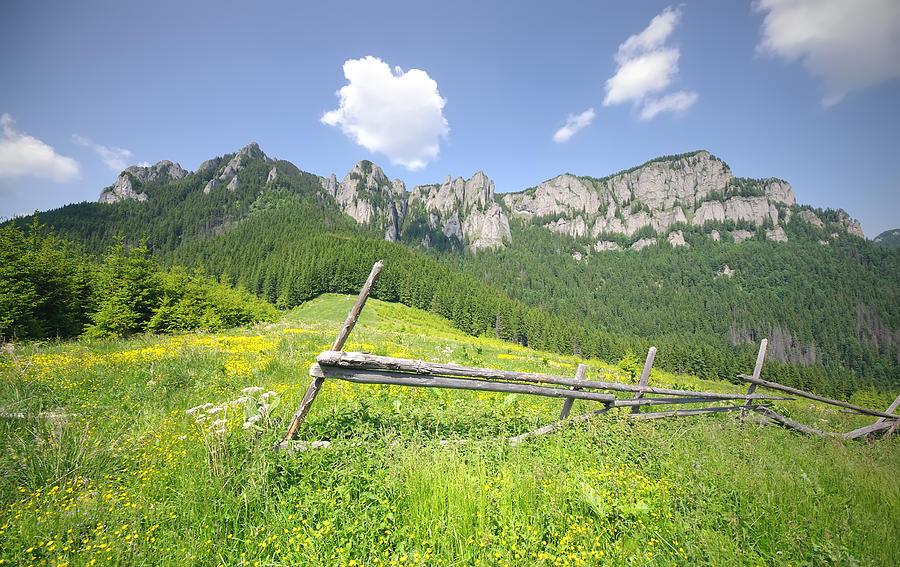 Alpine Photograph - Mountain Landscape  by Ioan Panaite