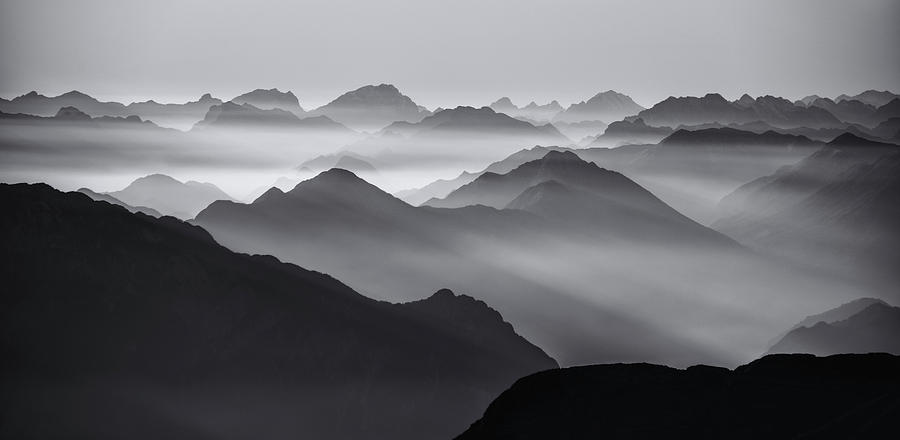 Andes Photograph - Mountain Layers by Ales Krivec