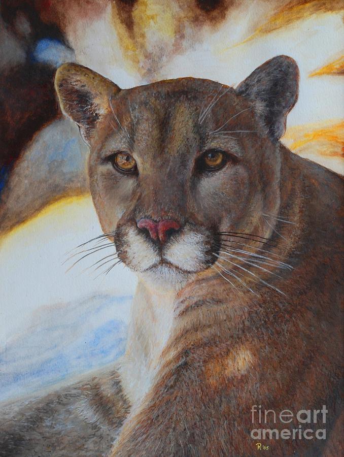 Cat Painting - Mountain Lyin - Watercolor by GD Rankin