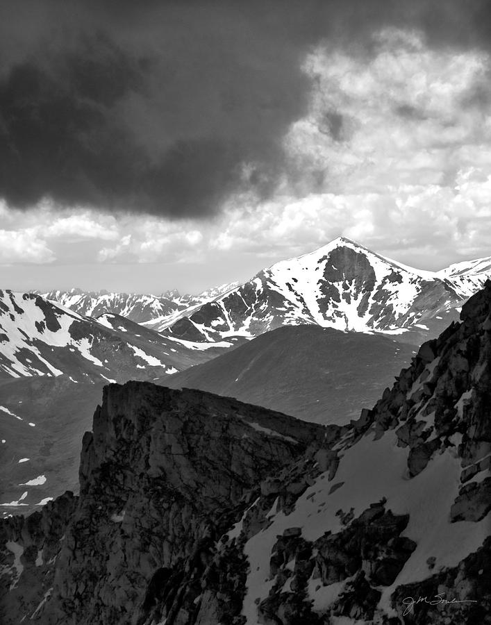 Black White Photograph - Mountain Majesty by Julie Magers Soulen