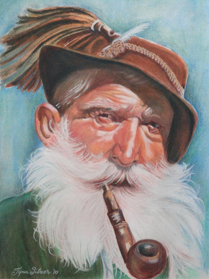 Portrait Painting - Mountain Man by Tyna Silver