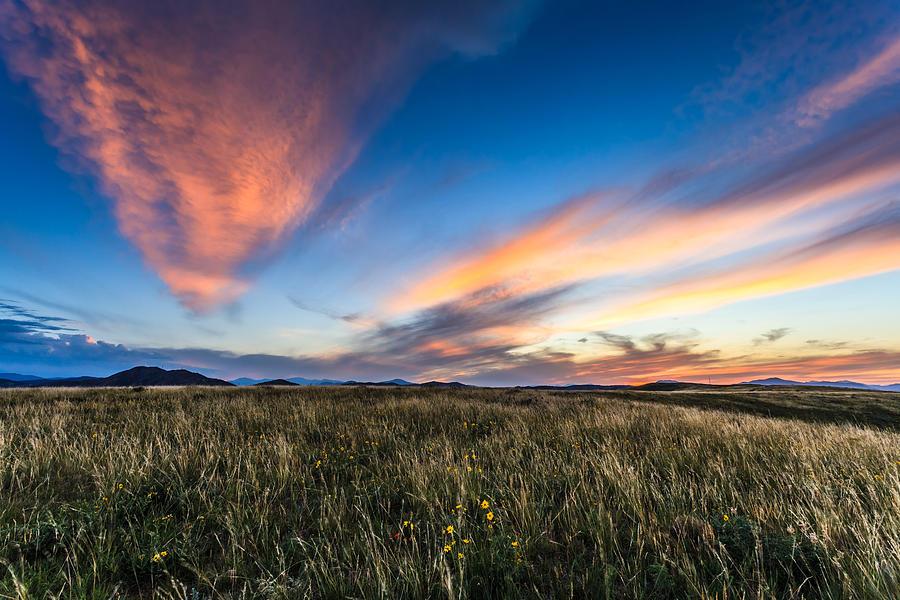 Colorado Photograph - Mountain Meadow Sunset by Jonathan Gewirtz