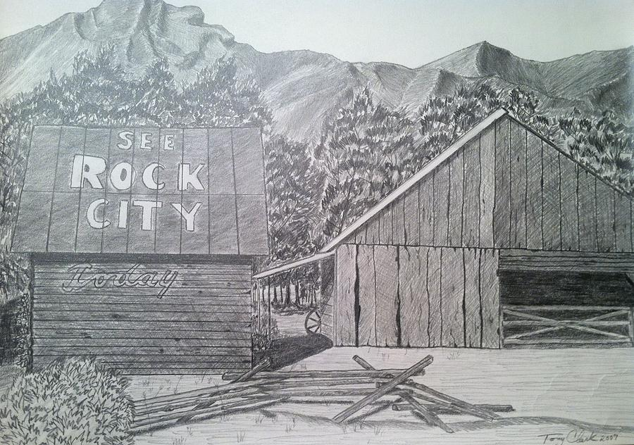 Landscape Drawing - Mountain Memories by Tony Clark