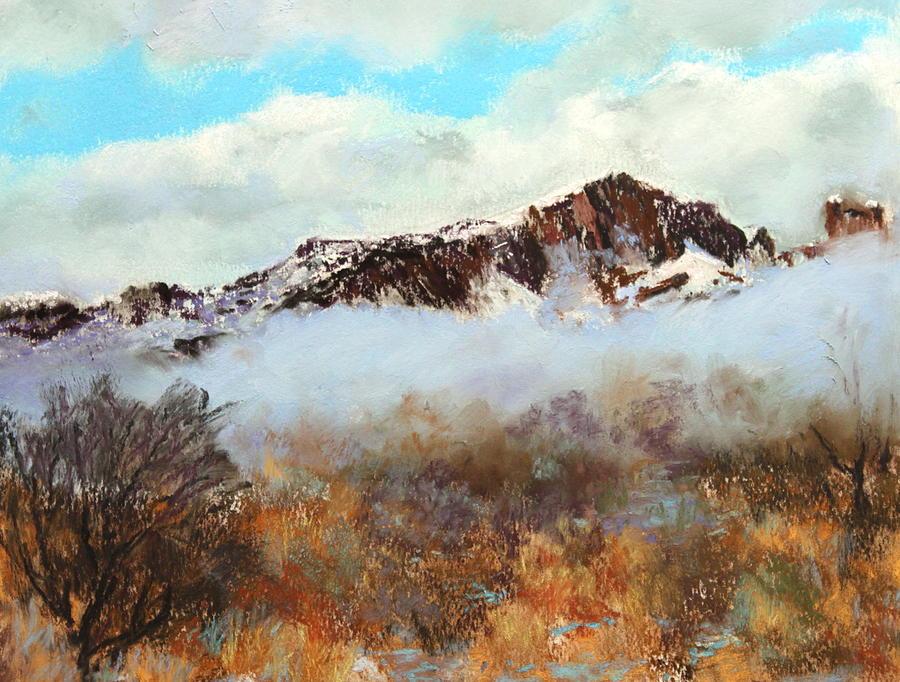 Mountain Painting - Mountain Mist by M Diane Bonaparte