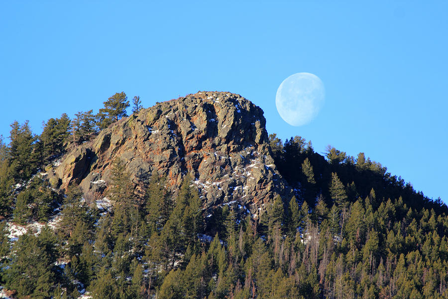 Mountain Moonset Photograph by Shane Bechler