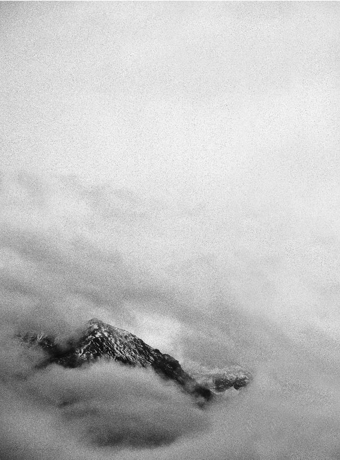 Misty Mountain Photograph - Mountain Peak In Clouds by Peter v Quenter