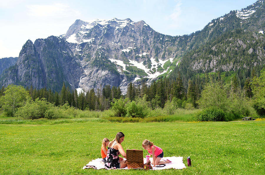 Mountain Photograph - Mountain Picnic by Kelly Reber
