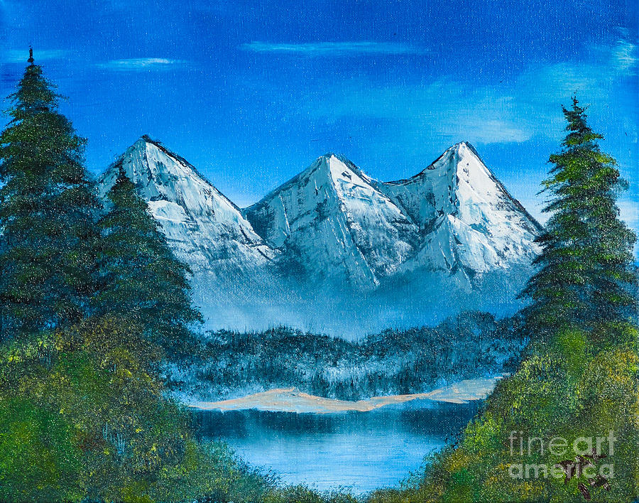 Landscape Painting - Mountain Pond by Dave Atkins