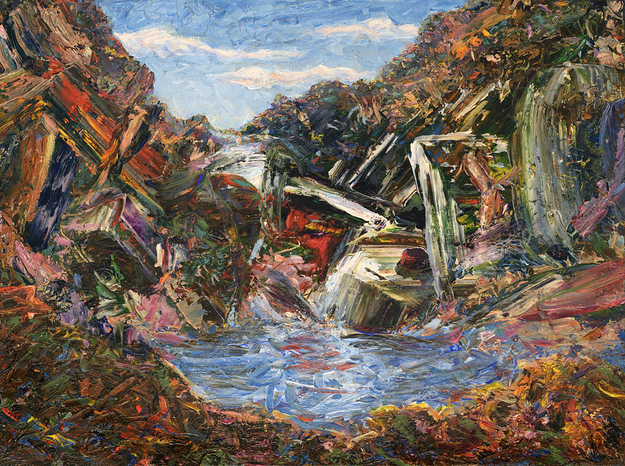 Mountains Painting - Mountain Pool by James W Johnson