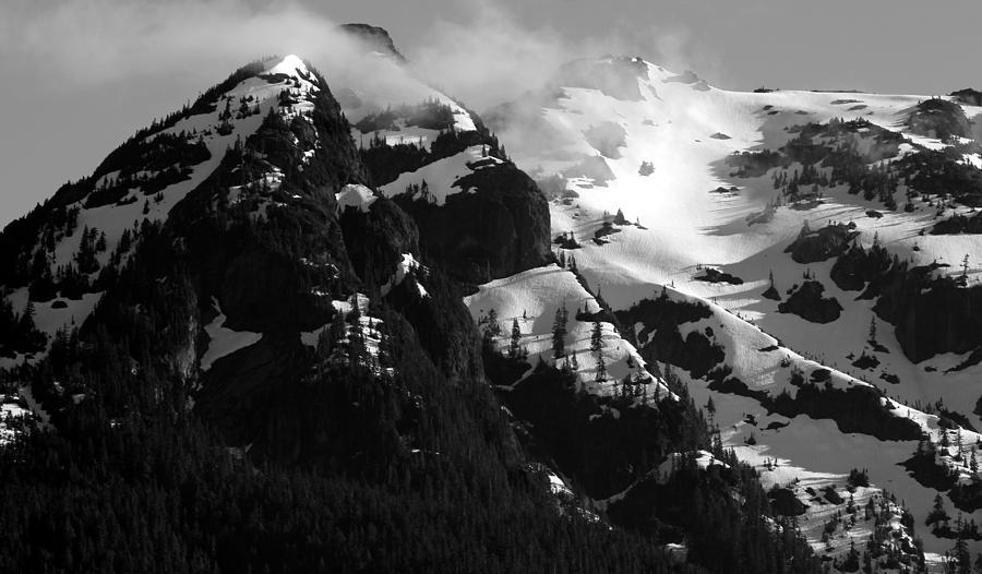 Mountain Photograph - Mountain Range Black And White Two by Diane Rada