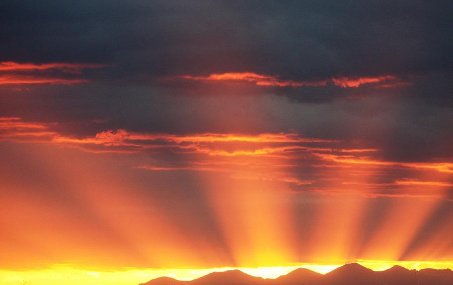 Mountain Rays Photograph by Shane Bechler