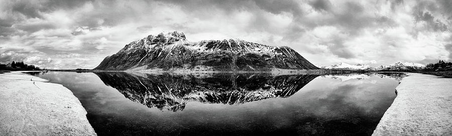 Lofoten Islands Photograph - Mountain Reflection by Dave Bowman