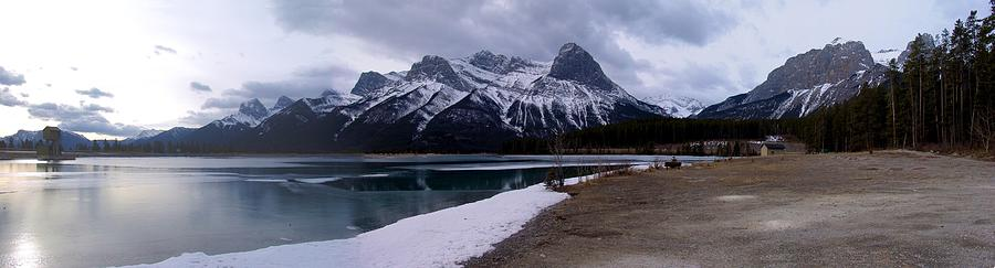 Mountain Sunrise Reservoir - Canmore, Alberta Photograph
