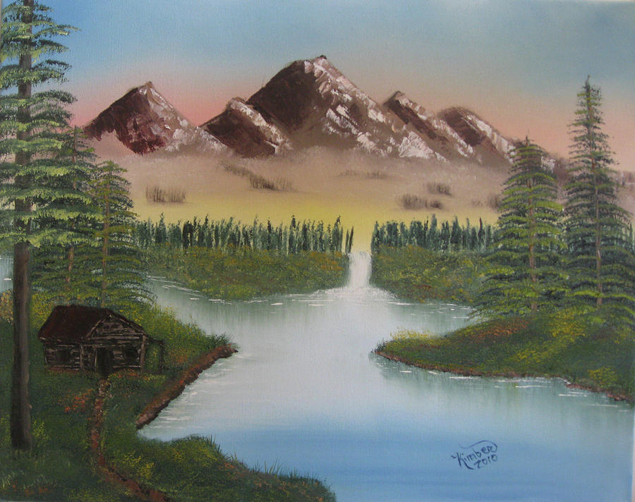 Mountain Painting Painting - Mountain Retreat by Kimber  Butler