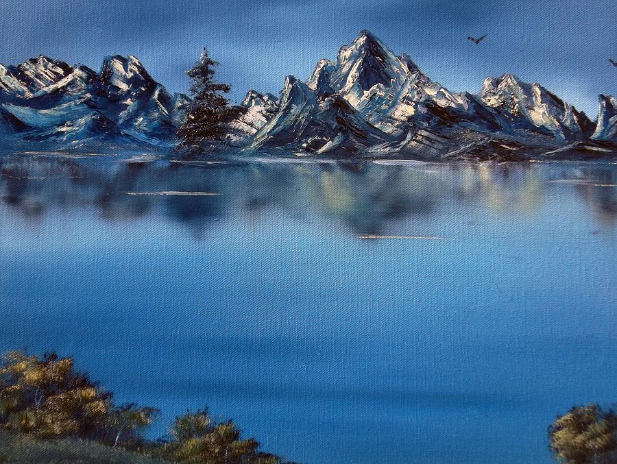 Mountains Painting - Mountain Ridge Horizon by Cynthia Adams
