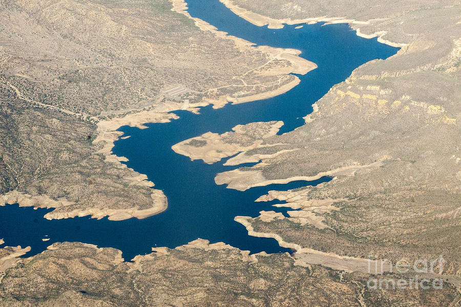 River Photograph - Mountain River From The Air by Darleen Stry