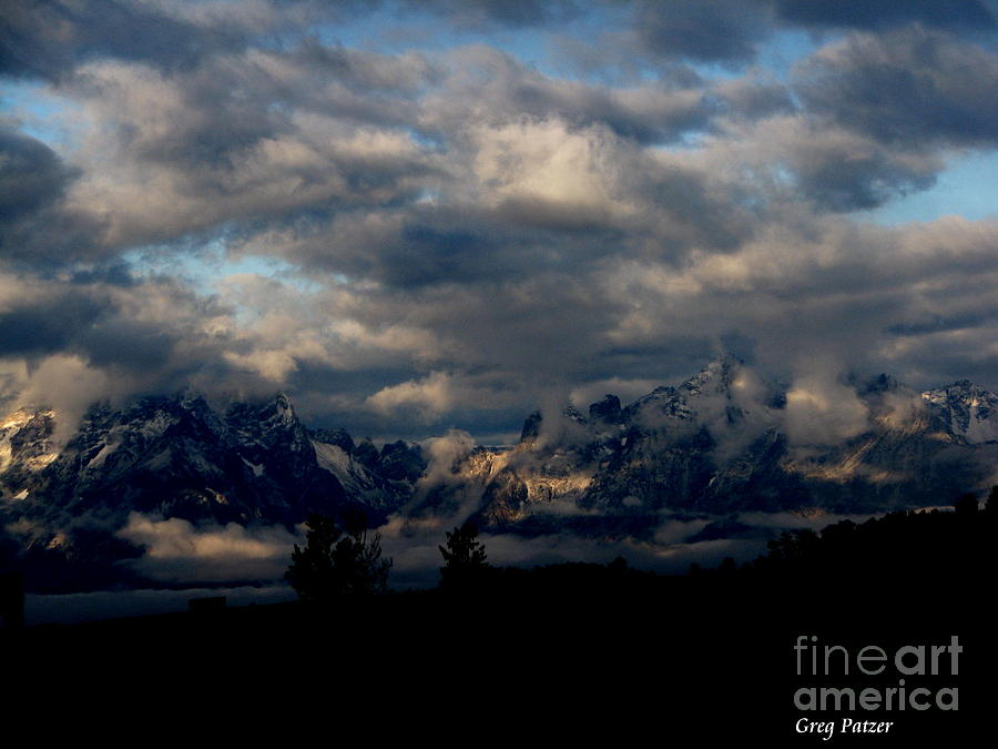 Patzer Photograph - Mountain Silhouette by Greg Patzer