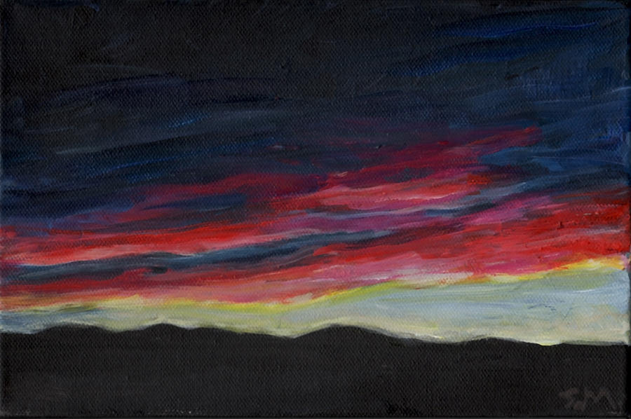 Landscape Painting - Mountain Silhouette by Susan Moore