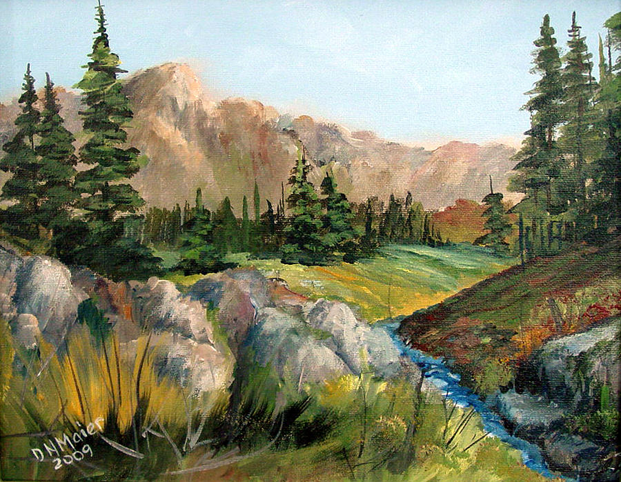 Mountain Painting - Mountain Stream by Dorothy Maier