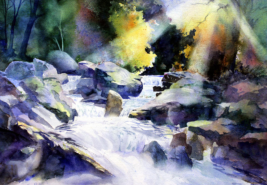 Landscape Painting - Mountain Stream by Tom Poole