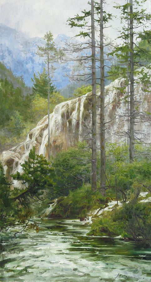 Landscape Painting - Mountain Streams by Victoria Kharchenko