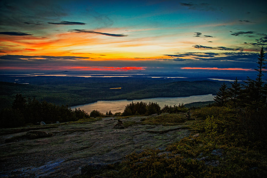 Cadillac Photograph - Mountain Sunset by Dave Files