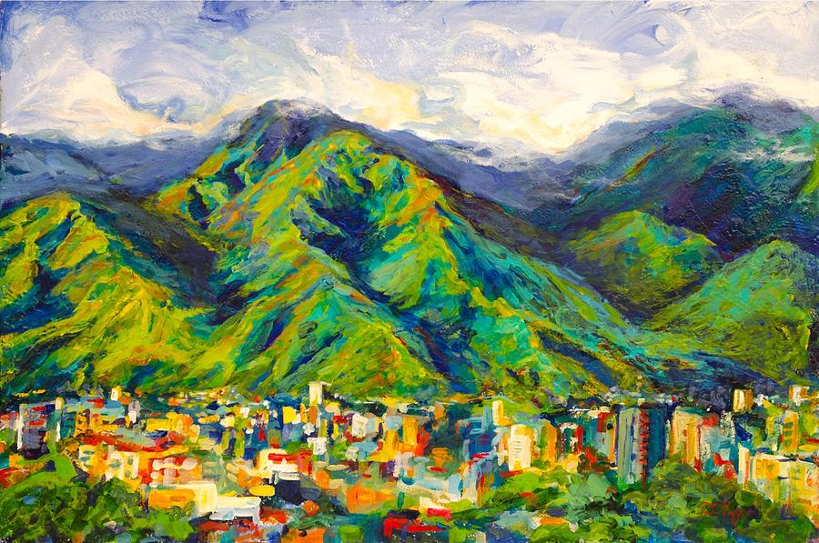 El Avila Painting - Mountain Valley by Patricia Maguire