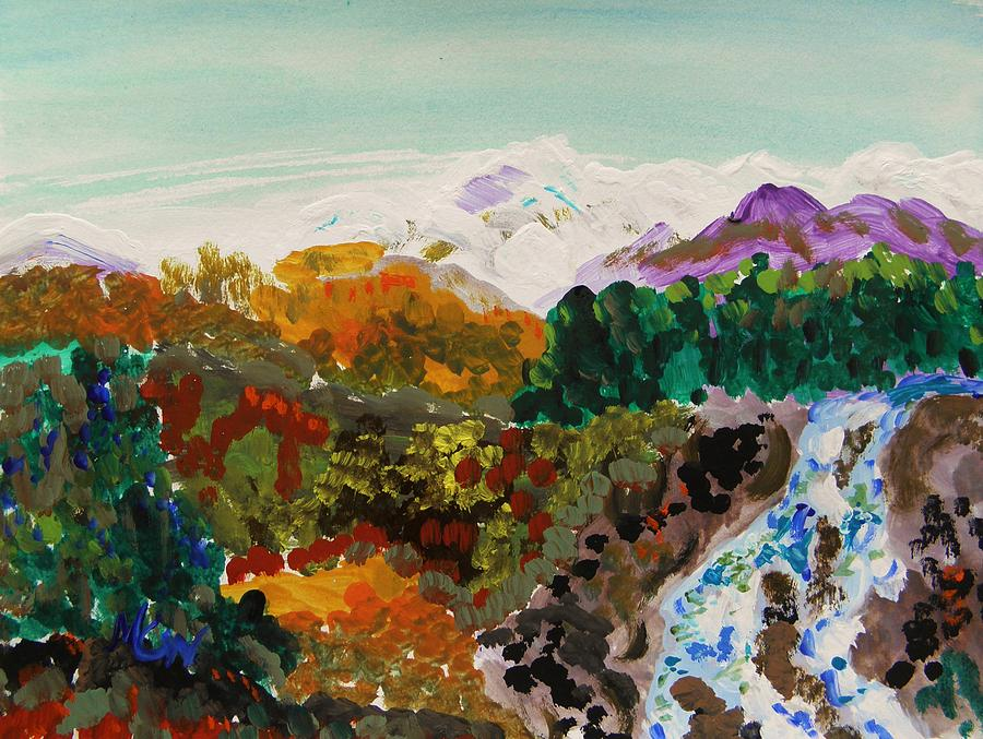 Colorful Landscape Painting - Mountain Water by Mary Carol Williams
