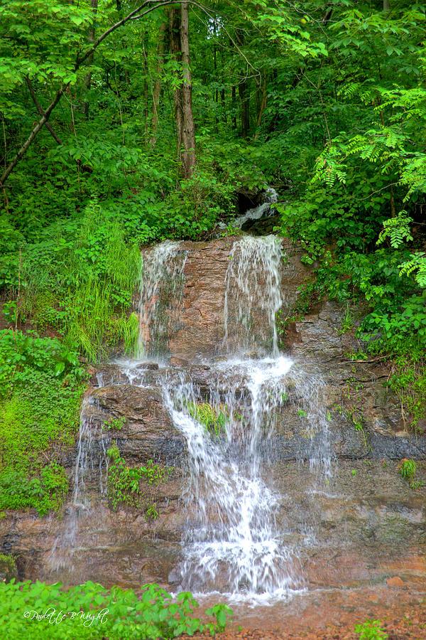 Popular Photograph - Mountain Waterfall II by Paulette B Wright