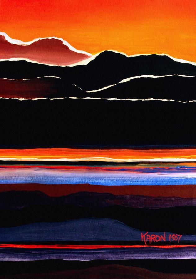 Mountain Abstract Painting - Mountains Abstract by Karon Melillo DeVega