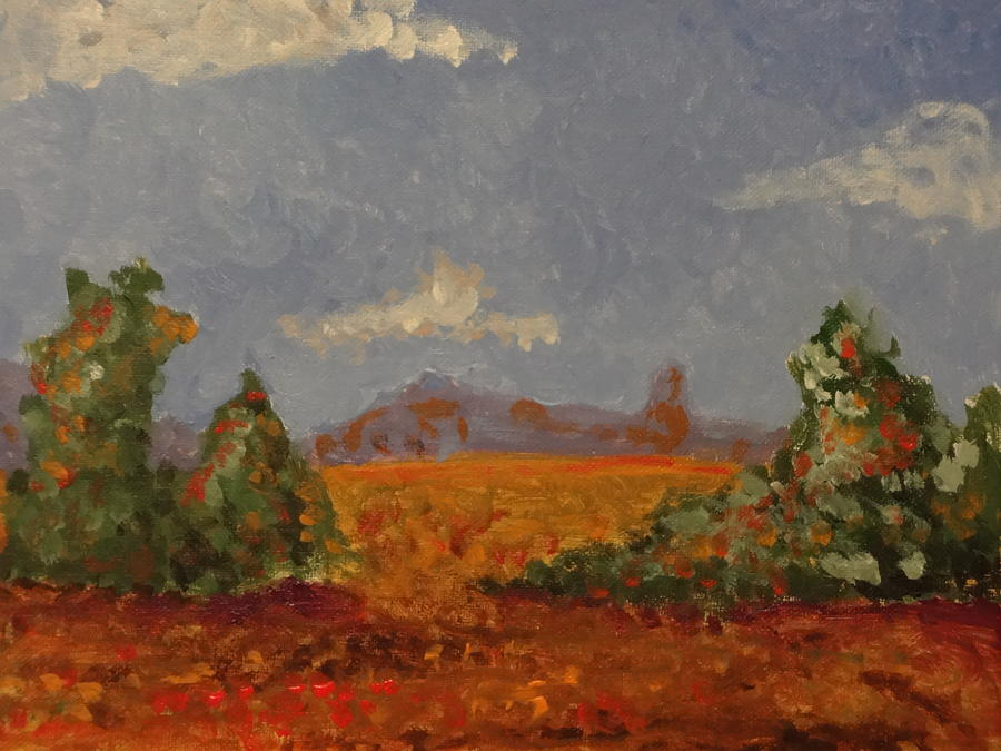 Impressionism Painting - Mountains In The Distance 1 by Paul Benson