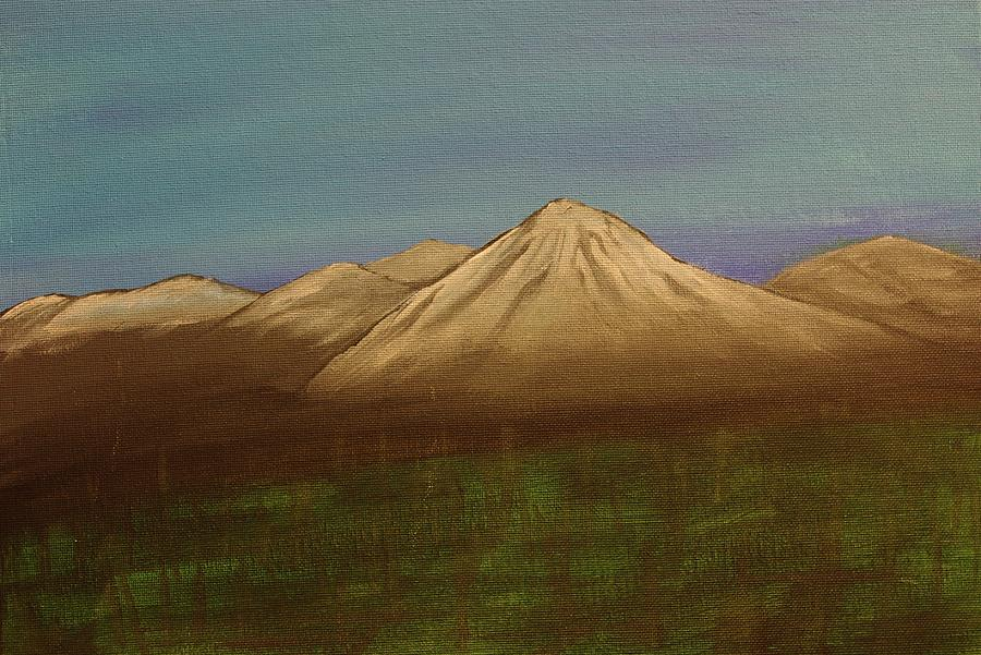 Mountain Painting - Mountains In The Mists by Keith Nichols